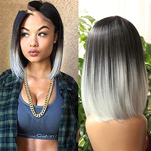 Short Straight Heat Resistant Synthetic Hair Wig For Black/White Women Cosplay Party Wigs,GBL16104,14inches