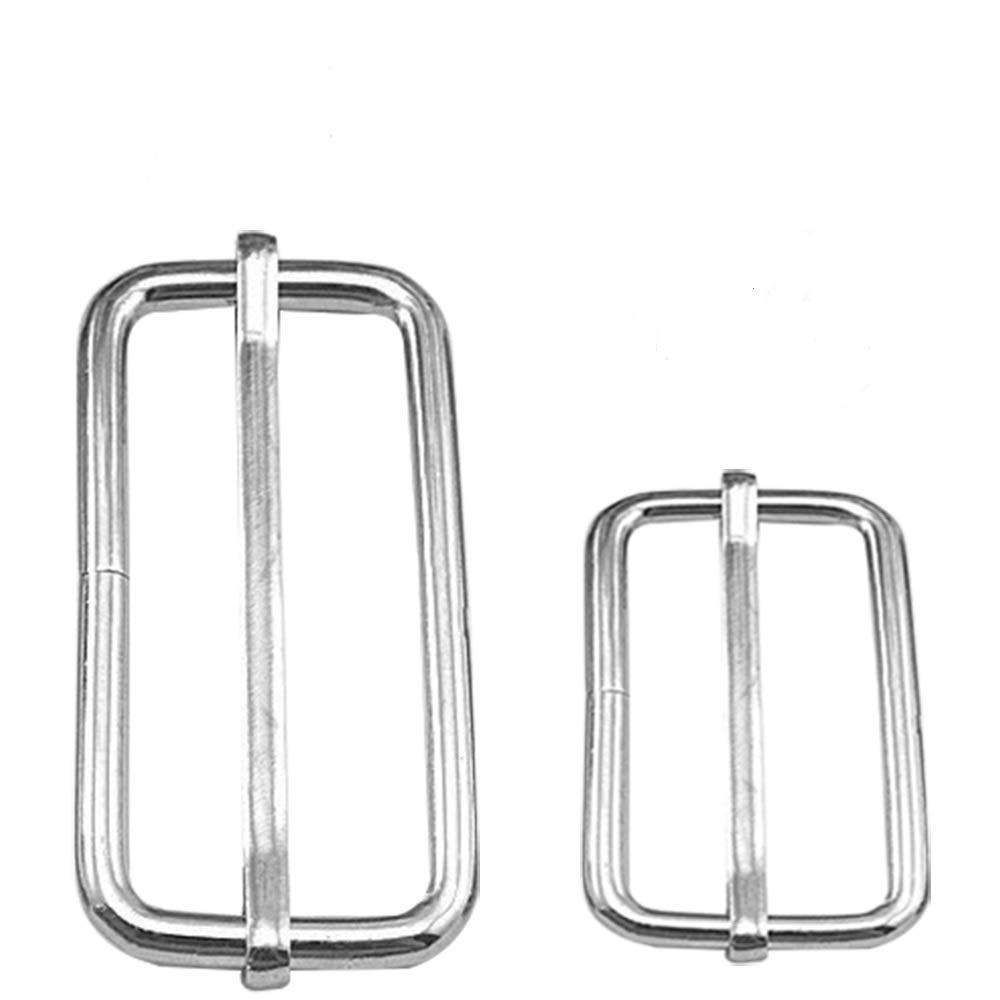 40 Pcs Metal Adjustable Slide Buckle BlueXp 25mm 38mm Roller Pin Buckles Slider for Handbag Luggage Purse Handles Webbing Adjuster Silver