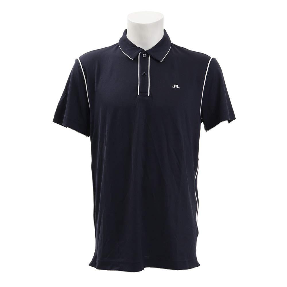 Jリンドバーグ(Jリンドバーグ) ゴルフウェア メンズ Color Trim New 半袖ポロシャツ 071-29340-098 L ネイビー B07RNGFR38