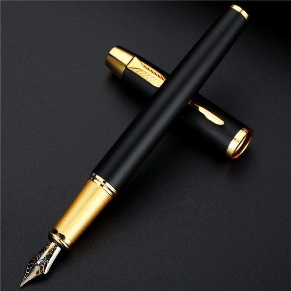 FJYDHR 1PC Caja de plumas estilográficas de lujo de metal de alta calidad Escritura comercial Firma Plumas de caligrafía Suministros escolares estacionarios de oficina, Negro: Amazon.es: Oficina y papelería