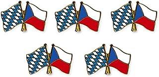 Yantec freundschaftspin séyès bayern broche épingle doppelflaggenpin république tchèque