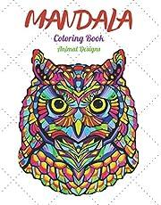 "Mandala Coloring Book Animal Designs: Adult and Kids Coloring Book: Stress Relief Wildlife Animal Designs, Mandalas, Patterns, 8,5"" x 11"""