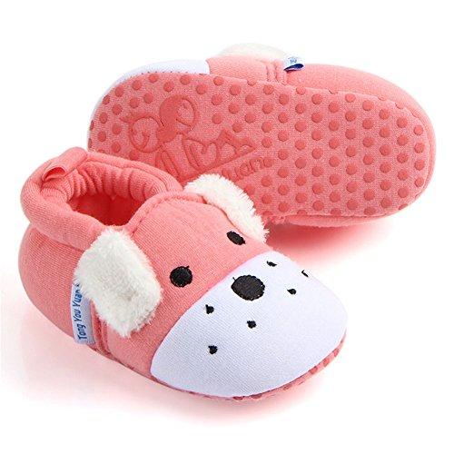 Anbiwangluo Cute & Lovely Baby Girls Hausschuhe Rosa Hund