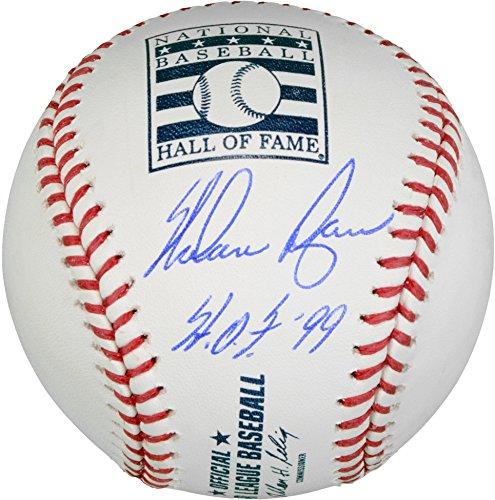 Nolan Ryan Texas Rangers Autographed Hall of Fame Logo Baseball with