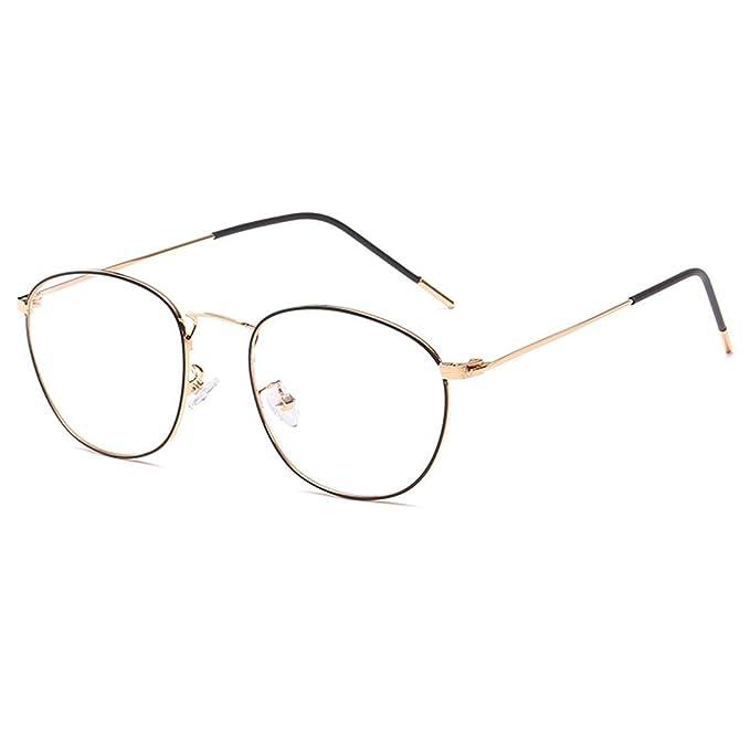 4c8c6c660c2c D.King Vintage Oversized Circle Metal Eyeglasses Frame Round Clear Lens  Glasses Gold-Black