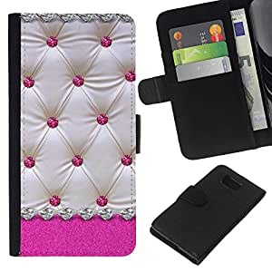 A-type (Pink White Lattice Diamond Pattern) Colorida Impresión Funda Cuero Monedero Caja Bolsa Cubierta Caja Piel Card Slots Para Samsung ALPHA G850