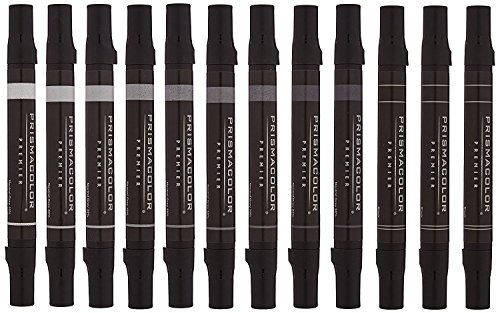 Chisel Marker in Neutral Gray - Set of 12