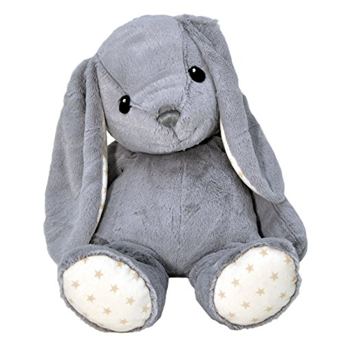 Cloud b Hugginz Plush Bunny, Grey, 22