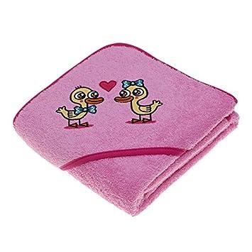 Asciugamano Blu per Bambini e bambini di kayuki saguyaki 100% cotone e con cappuccio ricamato Laken