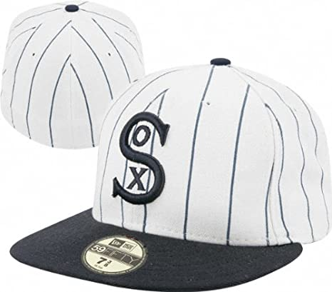 49775285f Amazon.com : Chicago White Sox 5950 Wool Throwback Cooperstown ...