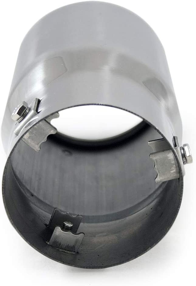 Autohobby 4622 Auspuffblende Auspuff Universell Schalldampf Endrohr Edelstahl bis 83mm /Ø Chrom