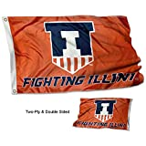 University of Illinois Two Sided Victory Badge Flag