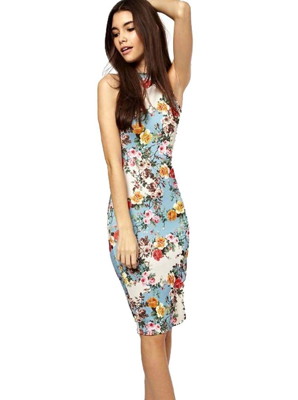 2015 neue Print Kleid beiläufige Art und Weise Frauen reizvolle ...