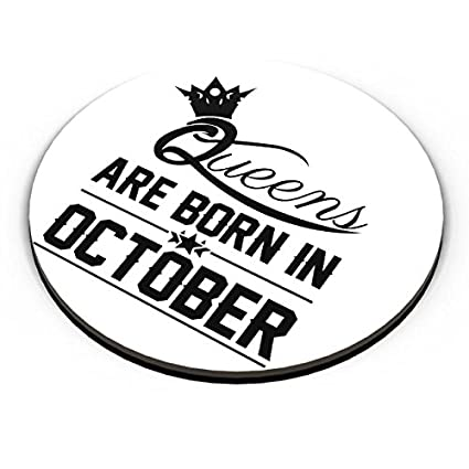 PosterGuy Queens Are Born In October Birthday Gift For Her Girls Women Woman Lady Sister Mom