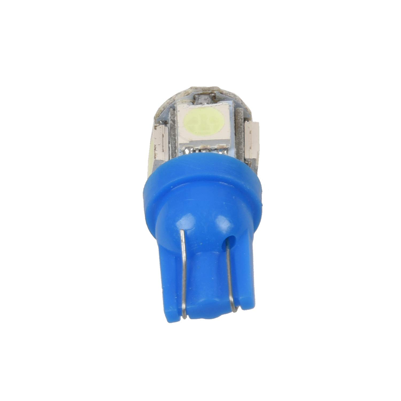 Blue Body Ice blue Light WOVELOT 4x T10 501 W5W 5 SMD 5050 Xenon LED Side Interior Wedge Light