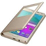 Samsung J7 Prime Golden Leather Window Flip cover