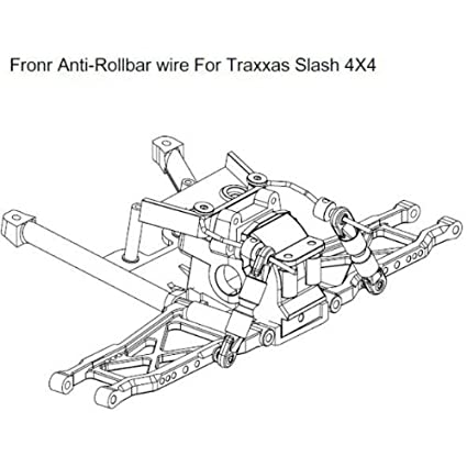 Amazon Com Hot Racing Slf311e Front Rear Sway Bar Kit Toys Games