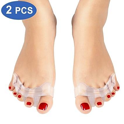 Separadores de dedos de gel, Haofy Silicona Separadores de dedos del pie para Dedo del
