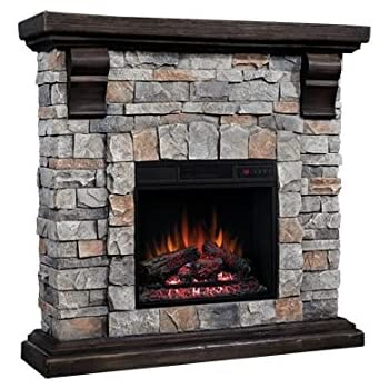 Attrayant ClassicFlame Pioneer Stone Electric Fireplace Mantel Package, Brushed Dark  Pine   18WM10400 I601
