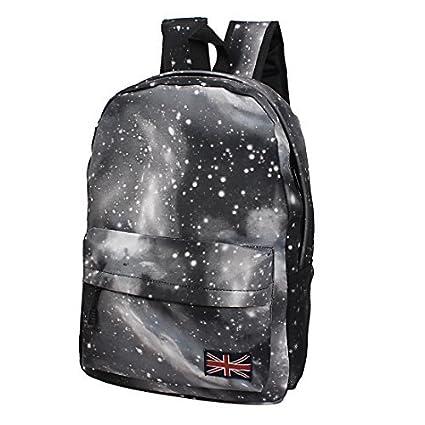 New Galaxy Espaço Backpack Mochila Bolsa Escola Bookbag Satchel