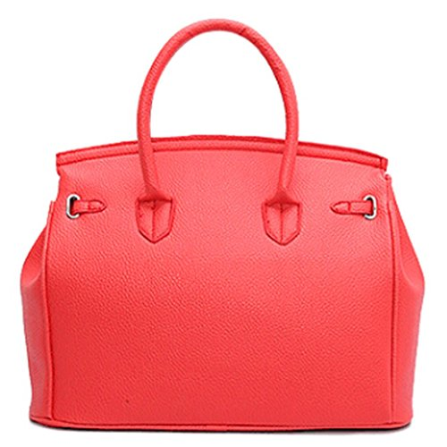 y Grandes A Niña de Naranja para Bandolera Rojo Shoppers de Mujer Bolsos Hombro Piel Baratos ESAILQ zaT6x8qw
