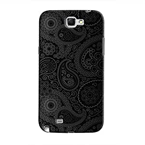 Cover It Up - Dark Curves Wallpaper Galaxy Note 2 N7100 Hard Case