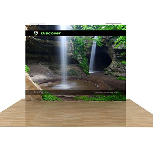 Wholesale-Displays 10ft Tension Fabric Trade Show Display with Dye-sublimation Fabric Graphics - Fabric 10' Display Tension