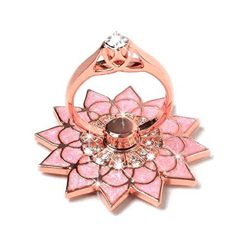 New Design Universal Phone Ring Bracket holder ,UCLL Diamond Sunflower Finger Grip Stand Holder Ring Phone Ring Grip (Pink) (Iphone 4 Diamond Sunflower Case)