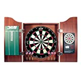 DMI Sports Deluxe Bristle Dartboard Cabinet Set with Electronic Scorer Includes 2 Dart Sets and a...