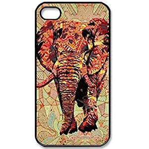 Generic Fashion Zigzag Print Cute Elephant Hard Plastic Case Cover for iPhone 5 5S