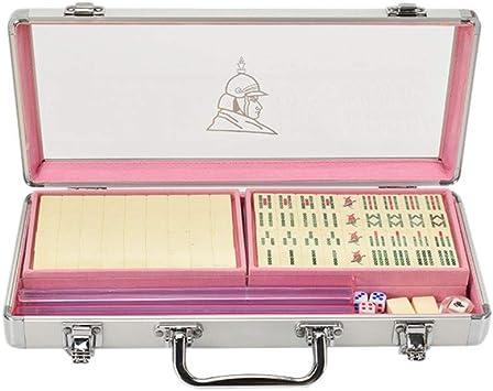 Juego de Mahjong portátil Chino Antiguo Mini Juegos de Mahjong Juegos caseros Mini Mahjong Chino Divertido Juego de Mesa de Mesa Familiar (Color : C) : Amazon.es: Juguetes y juegos