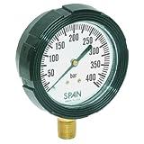 "SPAN LFS-210-30Hg/60PSI-G-CERT Series LFS-210 NIST Certified Liquid Filled Pressure Gauge with Pulsation Restrictor, 30"" Hg Vac to 60 PSI Pressure Range"