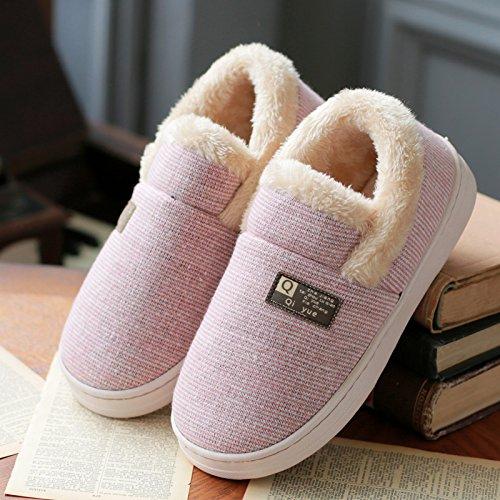 Paio cotone con caldo soggiorno donne pacchetto con DogHaccd cotone spessa Indoor pantofole pantofole una di eleganti di un Rosa3 full scarpe di e domestico uomini inverno antiscivolo 4ZZw5pOqa