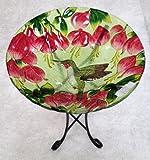 18%22 Hummingbird Glass Bowl%2Fbirdbath