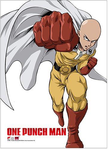 One Punch Man Saitama 2 Wall Scroll Anime Licensed NEW