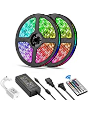 SKY-TOUCH 10 Meter 600LEDs Smart Bluetooth LED Strip Light RGB Sync to Music Light Remote Control Colorful Rope Lighting for Home Decor Kitchen Bedroom Hotel Outdoor Bar Garden Desktop Decoration