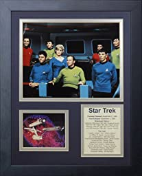 Legends Never Die Star Trek Bridge Crew Framed Photo Collage, 11 by 14-Inch