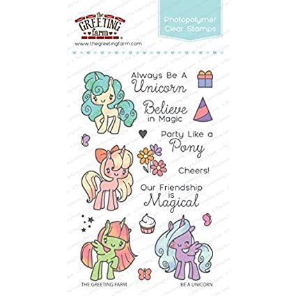 Amazon the greeting farm clear stamp set be a unicorn the greeting farm clear stamp set be a unicorn m4hsunfo