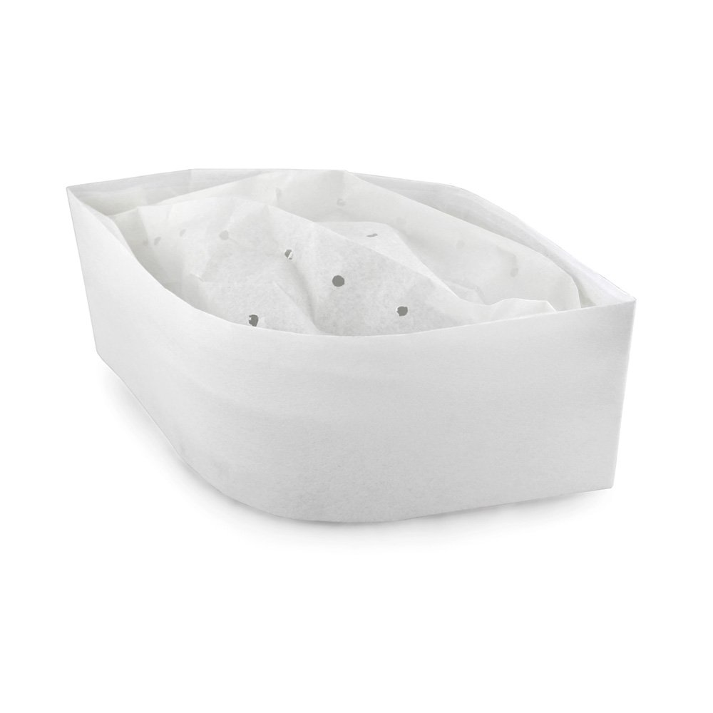 New Star Foodservice 32192 Disposable Non Woven Flat Chef Hat, 3.5-Inch, White, Set of 100 by New Star Foodservice