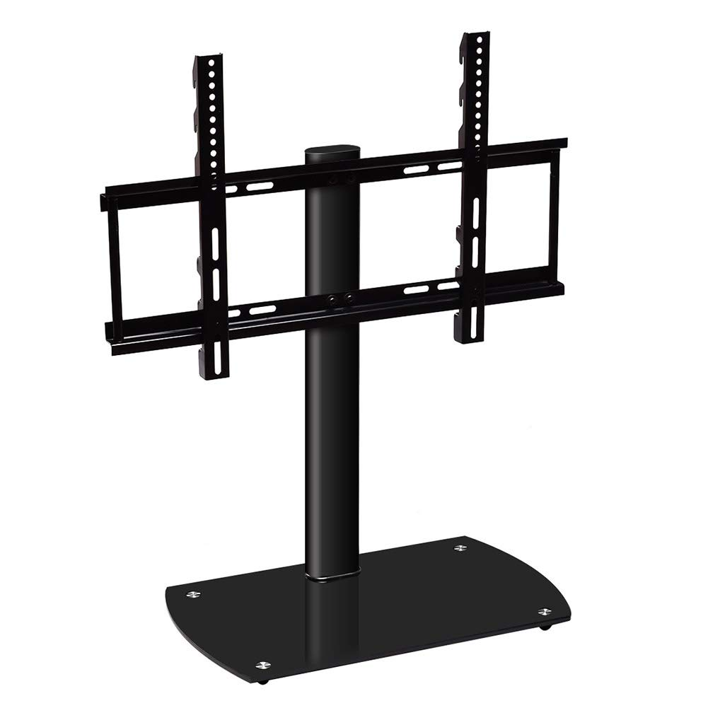 Toolsempire Universal Height Adjustable Table Top TV Stand for 37-47 Inch LED LCD Flat Screen TVs with Tempered Glass Base VESA 700x450mm Holds up to 88lbs Screens
