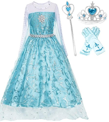 Costumes Elsa (Ice Queen Glitter Princess Dress (6-7))