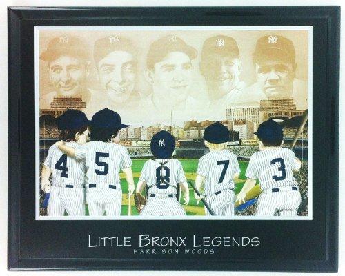 Framed Baseball New York Yankees Ruth Gehrig Mantle Dimaggio