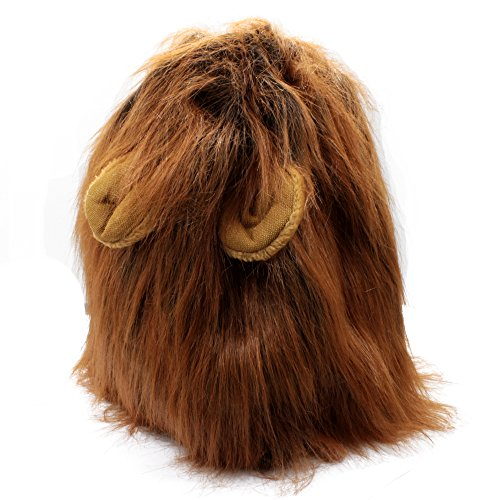 AMTopShow Dog Halloween Costumes Festive Christmas Fancy Dress Up Lion Mane Wig With Ears For Dogs Festival Dress (Festive Costume)