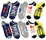 Doctor Who I Double Heart the Doctor TARDIS Dalek 5 Pack Low Cut Socks