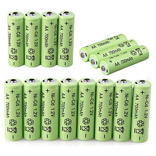 Sodoop [ Pack of 20] AA 1.2V 700mAh Batteries, Lithium Rechargeable Ni-Cd Cylindrical Battery for Garden Solar Light, LED Flashlights,Power Tools Etc ()