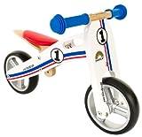 bike*star 17.8cm (7 pulgada) Bicicleta sin pedales para niños - Madera - Blanco