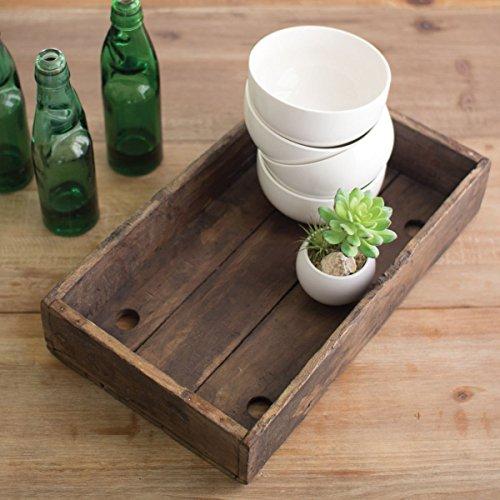 Kalalou Antique Teak Wood Tray product image