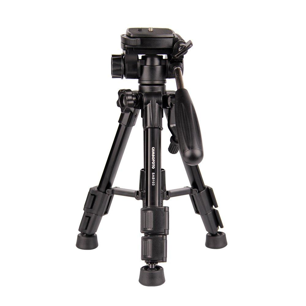 CAMBOFOTO Trípode Ligero para Mesa con 3 Dimensiones y Nivel de Burbujas Integrado para SLR/DSLR Canon, Nikon, Sony, Olympus, etc. con Bolsa: Amazon.es: ...