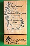 Quality Custom Rubber Stamps ''Great is Thy Faithfulness'' Rubber Stamp Wood Mounted Set of Two Carved Wooden Stamps