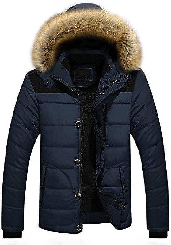 ITISME męski sweter męski na świeżym powietrzu ciepły zimowy gruba kurtka plus futro kaptur kurtka: Odzież